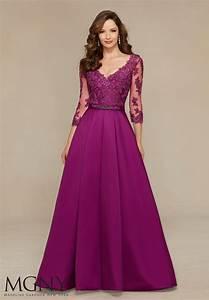 Satin Evening Dress   Style 71336   Morilee