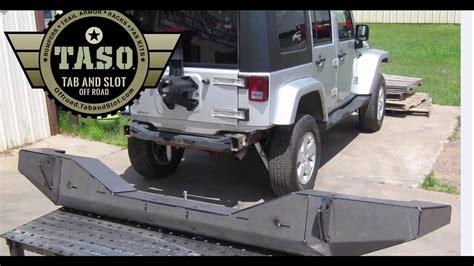 homemade jeep rear bumper jeep jk rear bumper diy kit taso bmp jk 900 u youtube