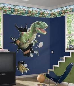 boys room with dinosaurs wall mural kids bedroom With nice ideas dinosaur decals for walls