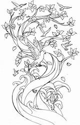 Cherry Blossom Coloring Tree Japanese Pages Printable Drawing Print Getcolorings Blos sketch template
