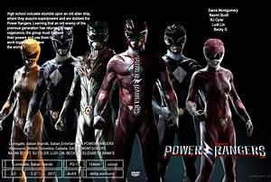 Power Rangers dvd cover & label (2017) R0 CUSTOM