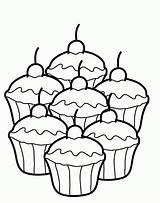 Coloring Cupcake Pages Printable Popular sketch template