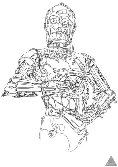 Star Wars Continuous Line Drawings