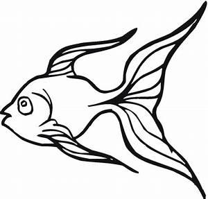 Goldfish Outline - ClipArt Best