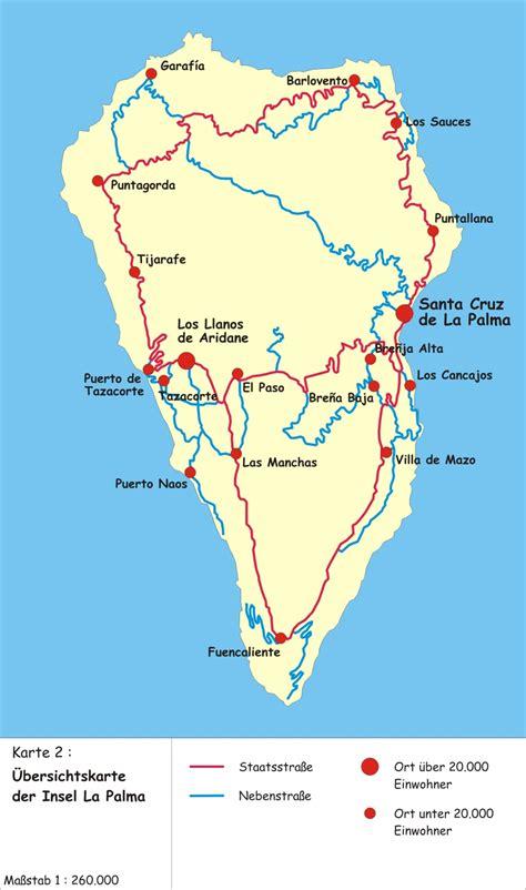 map  la palma canary island worldofmapsnet