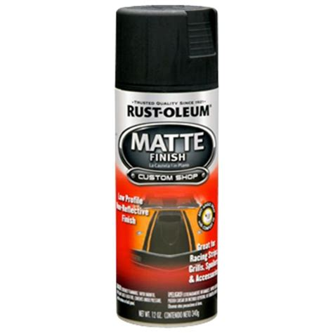 rust oleum automotive 12 oz black matte finish spray