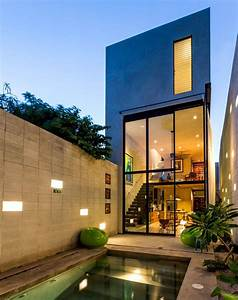 Breezy Concrete House In Mexico Makes The Most Of Narrow Site