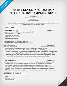 Free Cover Letter For Resume Entry Level Information Technology Resume Sample Http