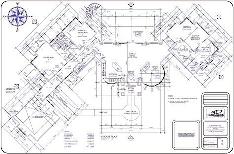 big house floor plans big house floor plan large plans architecture plans 4063