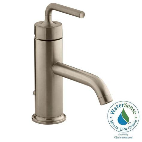 kohler purist 1 hole single handle low arc bathroom