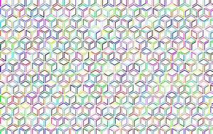 Clipart - Prismatic Isometric Cube Extra Pattern No Background