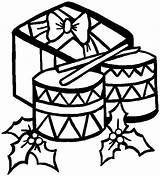 Bongos Template Coloring Drums Christmas sketch template
