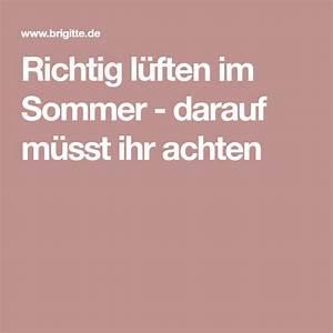 Richtig Lüften Im Sommer : l ften im sommer darauf m sst ihr achten sommer richtiger und frische luft ~ A.2002-acura-tl-radio.info Haus und Dekorationen
