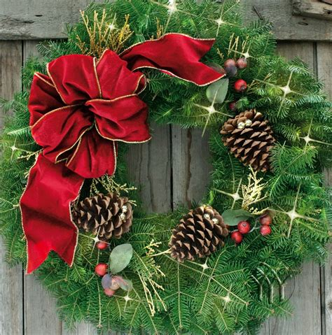 cranberry splash wreath fresh handmade holiday wreaths