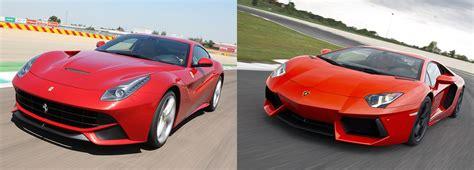Vs Lamborghini by F12 Berlinetta Or Lamborghini Aventador Fiat