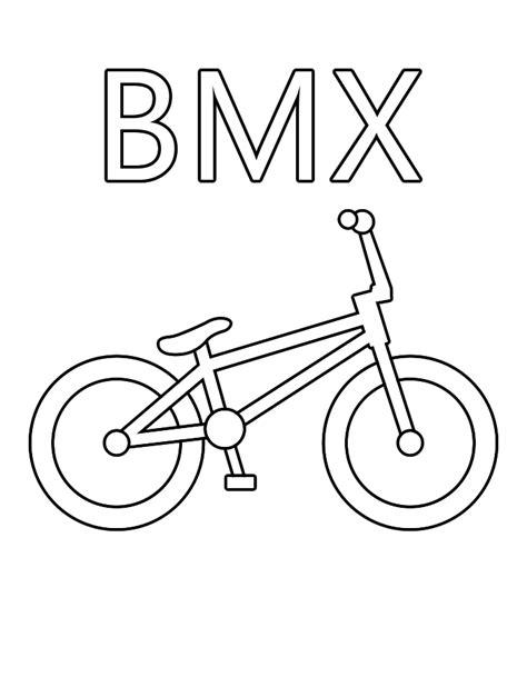 Bmx Kleurplaat bmx crossfiets kleuren is leuk