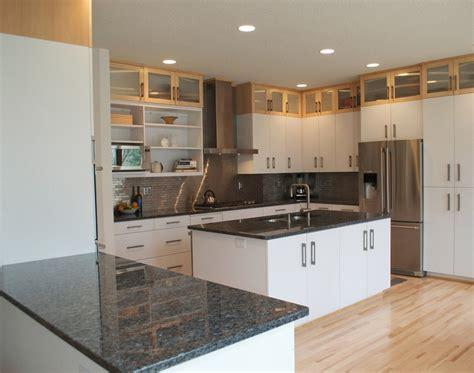 white kitchen cabinets with dark countertops dark brown laminated wooden wall mounted kitchen hanging