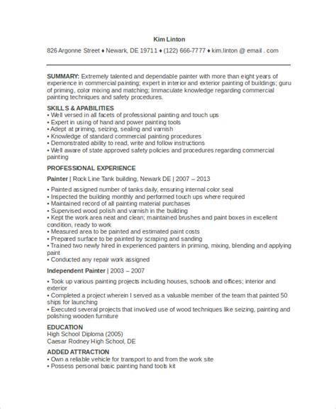 9+ Painters Resume Templates  Pdf, Doc  Free & Premium. Web Design Resume Examples. Insurance Resume Sample. Lyx Resume. Car Sales Resume Sample. Ivory Resume Paper. Chemical Engineering Internship Resume Samples. Skills Resume Format. Sales Representative Sample Resume