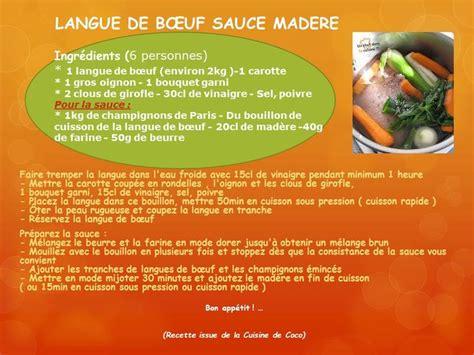 cuisiner langue de boeuf langue de bœuf sauce madère recettes cookeo