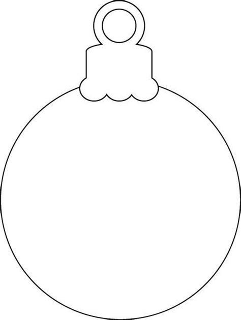 christmas ornament outlines printable the world s catalog of ideas