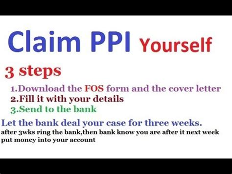 claiming letter template  claiming  ppi