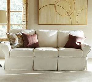 Sale pb basic slipcovered sofa collection pottery barn for Pottery barn sectional sofa sale