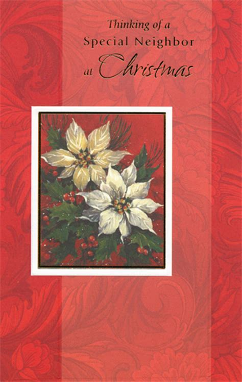 flowers  red pattern neighbor christmas card  freedom