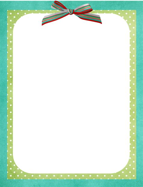 Free Border Templates by 1000 Images About Stationary Printable Preschool On