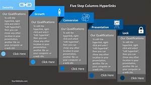 Five Steps Powerpoint Columns  U2013 Slide Ocean