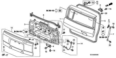 automobile air conditioning service 2007 honda element electronic valve timing oem 2007 honda element 5 door tailgate 1 parts hondapartsonline net