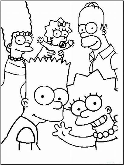 Coloring Pages Simpsons Cartoon Printable Cartoons
