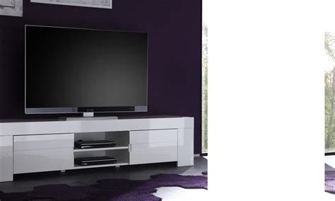 meuble tv design laque blanc meuble tv hifi design elios coloris blanc laqu 233 disponible en 2 dimensions