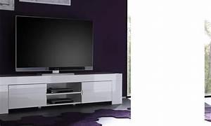 Meuble Laqué Blanc : h comme home produits meuble tele ~ Melissatoandfro.com Idées de Décoration