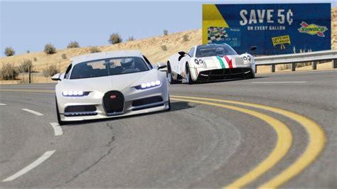 Inbugatti, chiron, huayra, pagani, videos. Bugatti Chiron vs Pagani Huayra at Black Cat Country