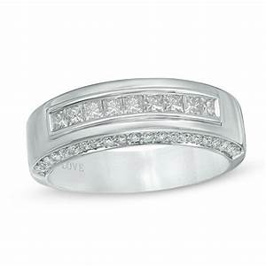 vera wang love collection men39s 1 ct tw diamond nine With vera wang men s wedding rings