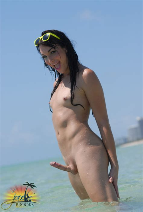Passible Tgirl On Public Nude Beach A Pretty Tgirl Shemale Sexy Cock Small Tits Beach Hot