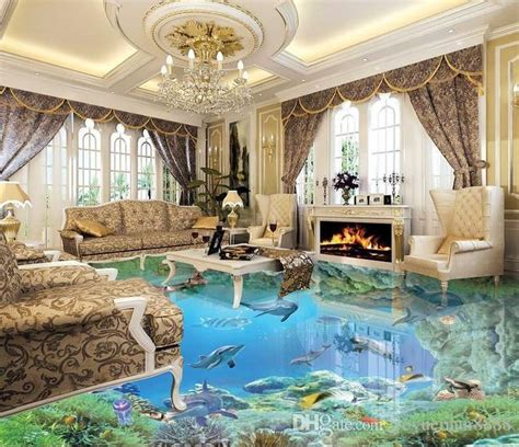 floor decor uk custom 3d stereoscopic living room wallpaper 3d floor tiles the underwater world wallpaper vinyl