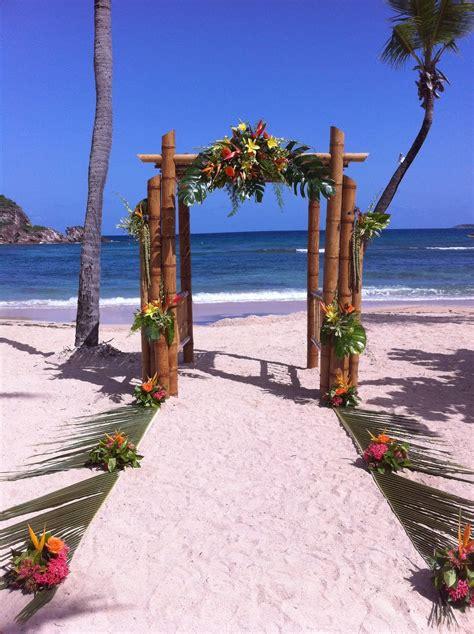 Beach Wedding Ideas Authentic Beach Wedding Bamboo Arch