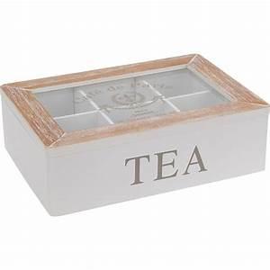 Boîte à Thé Compartimentée : boite th s tisanes et infusions en bois compartiment ~ Teatrodelosmanantiales.com Idées de Décoration