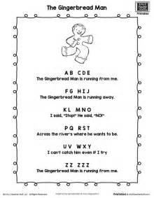 Snowman Nursery Rhymes by Gingerbread Man Poem Printable A To Z Teacher Stuff