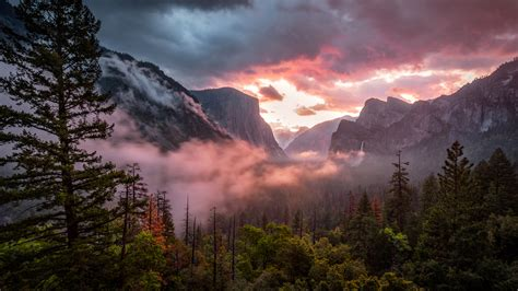 Misty Yosemite Hd Nature 4k Wallpapers Images