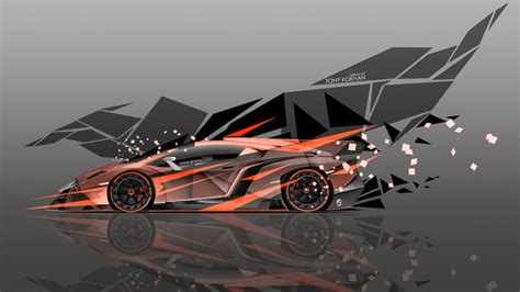Abstract Car Wallpaper 4k by Lamborghini Veneno Side Abstract Transformer
