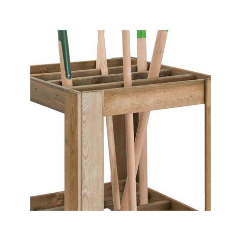 rangement outils jardin range outils de jardin en bois 60x60x75cm jardipolys