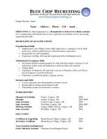 front of house receptionist resume sales receptionist