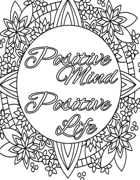positive coloring pages inspirational quotes coloring