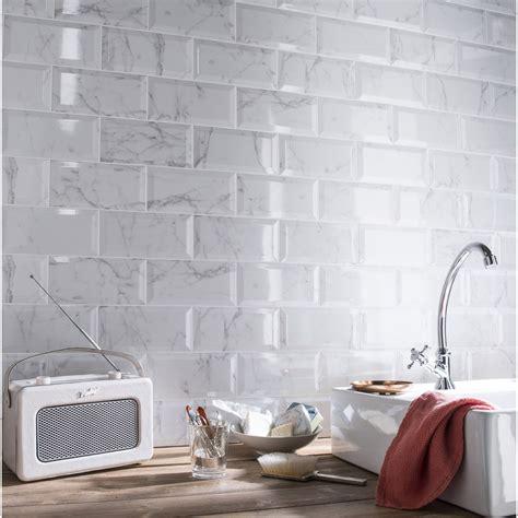 faience cuisine metro faïence mur blanc métro carrare l 10 x l 20 cm leroy merlin
