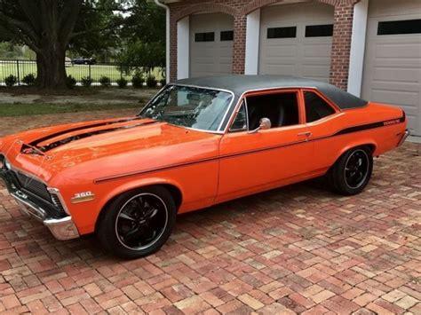 chevy nova yenko stripes custom orange paint