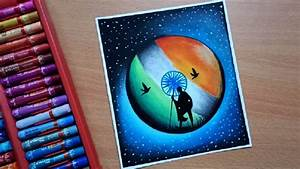 Republic Day Drawing With Oil Pastel Step By Step