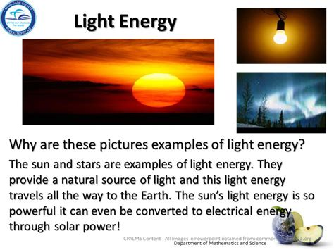 light energy definition physical science big idea 10 forms of energy big idea 11