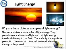 Physical Science Big Idea 10 Forms of Energy Big Idea 11